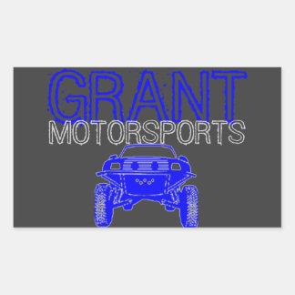 Etiqueta do Motorsport Adesivos Em Formato Retangulares