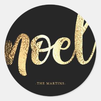 Etiqueta do Natal da tipografia do ouro do falso
