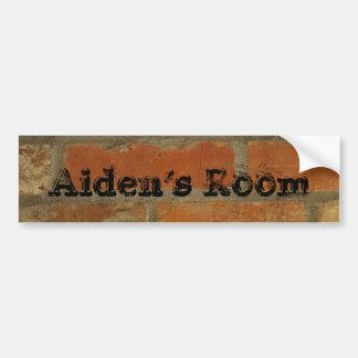 etiqueta do nome da porta do quarto adesivo para carro