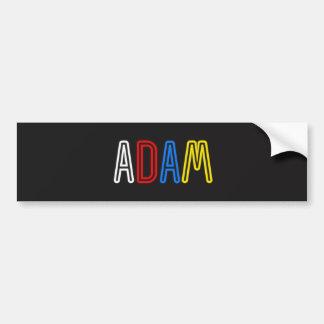 Etiqueta do nome pessoal - Adam Adesivo Para Carro