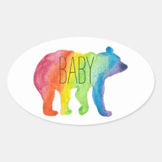 Etiqueta do orgulho da família da aguarela do urso