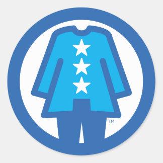 Etiqueta do orgulho da nação do Pantsuit