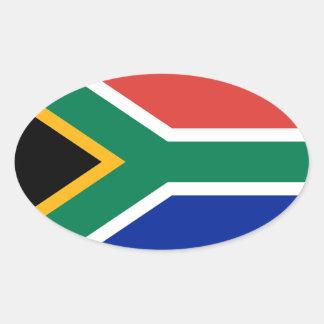 Etiqueta do Oval da bandeira de África do Sul Adesivos Em Formato Ovais