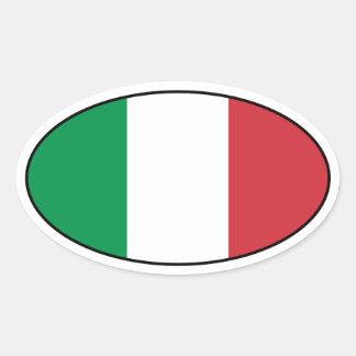 Etiqueta do Oval da bandeira de Italia Adesivos Em Formato Ovais
