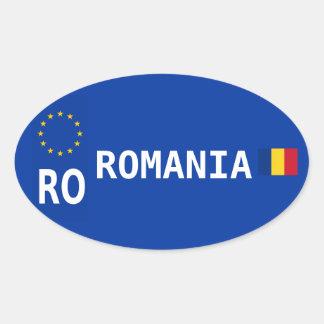 Etiqueta do Oval da matrícula de Romania Adesivo Oval