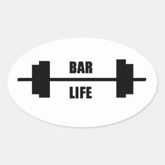 Etiqueta do Oval da vida do bar Adesivo Oval