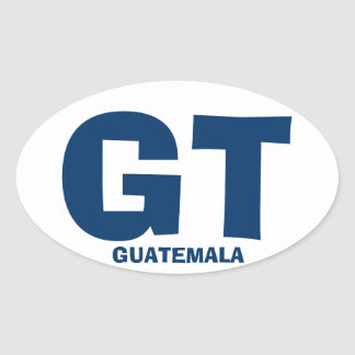 Etiqueta do Oval de Guatemala GT