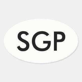 Etiqueta do Oval de SGP