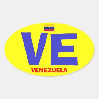 Etiqueta do Oval do estilo de Venezuela VE euro-