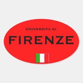 Etiqueta do Oval do Euro--estilo da universidade