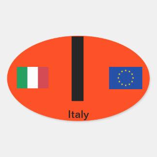 Etiqueta do Oval do Euro--Estilo de Italia Adesivo Oval