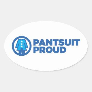 Etiqueta do Oval do orgulho da nação do Pantsuit
