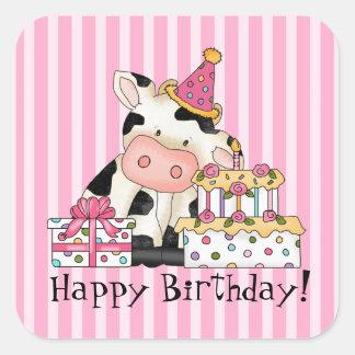 Etiqueta do partido da celebração da vaca dos