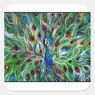 Etiqueta do pavão projetada por Leslie Gleason