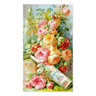 Etiqueta do perfume da água de Florida com rosas Cartão De Visita