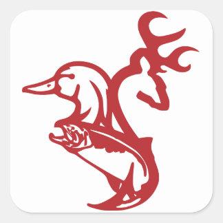 Etiqueta do pescador do caçador