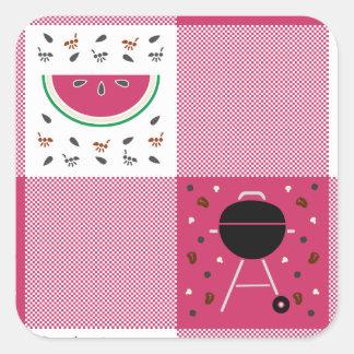 Etiqueta do piquenique do verão