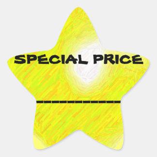 Etiqueta do preço especial adesito estrela