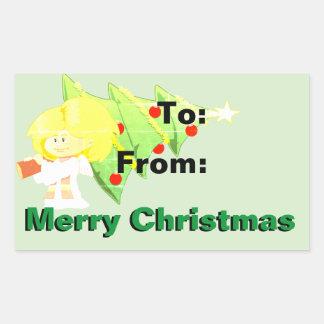 Etiqueta do presente do Feliz Natal