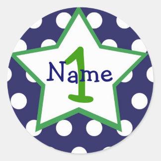 Etiqueta do primeiro aniversario do bebé adesivo
