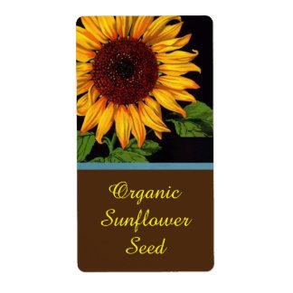 Etiqueta do produto da venda das sementes de etiqueta de frete