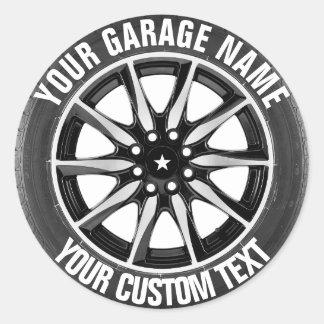 Etiqueta do proprietário do reparo da garagem ou adesivo