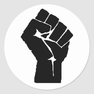 Etiqueta do punho do poder preto