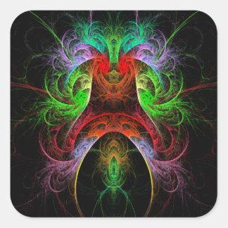 Etiqueta do quadrado da arte abstracta de Carnaval Adesivo Quadrado