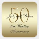 Etiqueta do quadrado do aniversário de casamento d adesivos