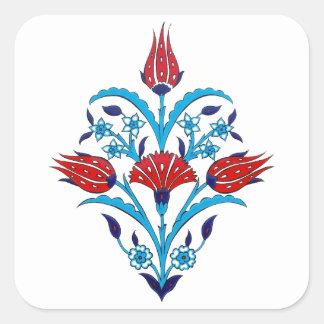 Etiqueta do quadrado do azulejo do turco adesivo quadrado