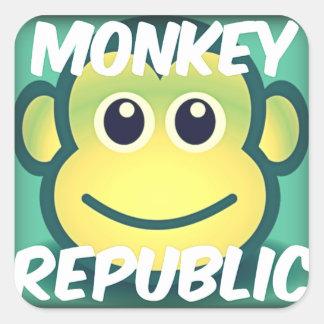 Etiqueta do quadrado do princípio da república do