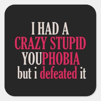 Etiqueta do quadrado preto de YouPhobia