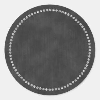 Etiqueta do quadro com monograma de prata da
