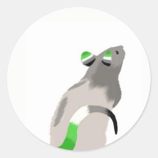 Etiqueta do rato de Aro