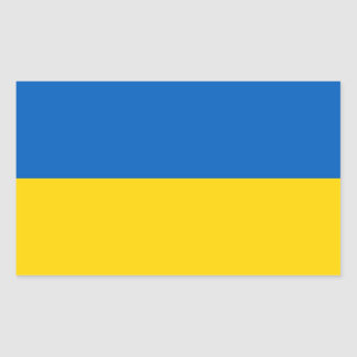 Etiqueta do retângulo com a bandeira de Ucrânia Adesivo Retangular