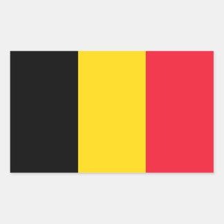 Etiqueta do retângulo da bandeira de Bélgica Adesivo Retangular