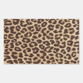 Etiqueta do retângulo do impressão do leopardo