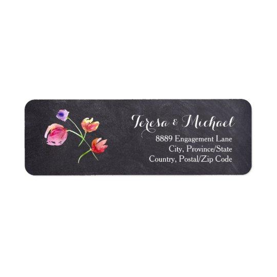 Etiqueta do retorno do casamento da flor do