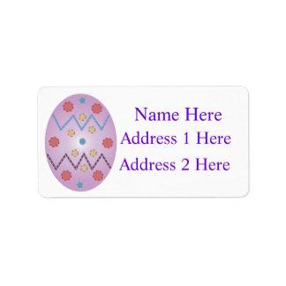Etiqueta do retorno etiqueta de endereço
