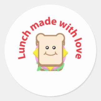 Etiqueta do sanduíche do almoço adesivo