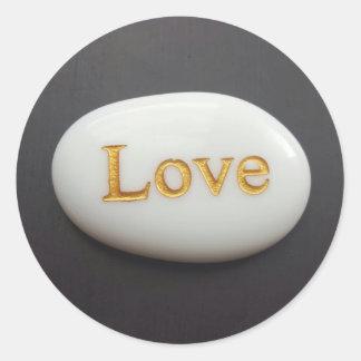 Etiqueta do seixo do amor adesivo