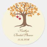 Etiqueta do selo do favor da árvore da queda adesivos em formato redondos