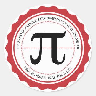 Etiqueta do selo do Pi