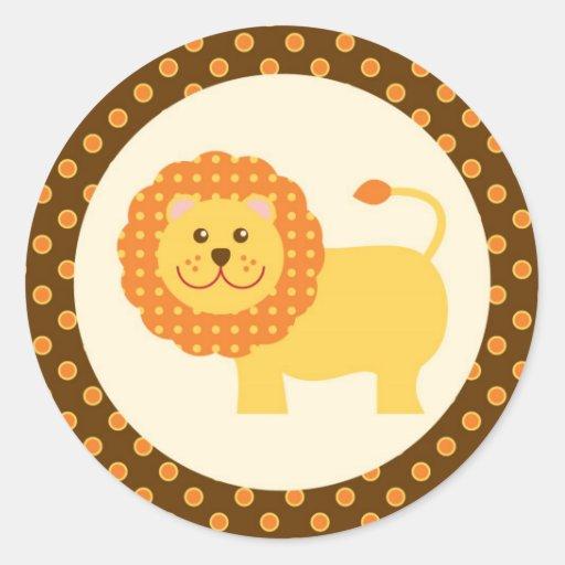 Etiqueta do selo do safari de selva adesivos redondos