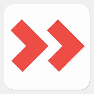 Etiqueta do serviço do processo do Tag Adesivo Quadrado