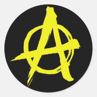 etiqueta do símbolo da anarquia do