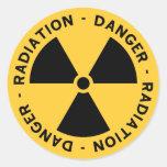 Etiqueta do símbolo da radiação adesivo redondo