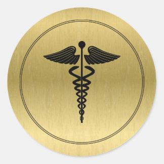 Etiqueta do símbolo do Caduceus