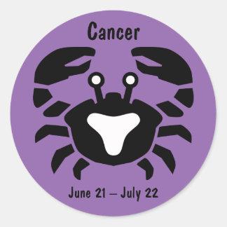 Etiqueta do símbolo do caranguejo do cancer do