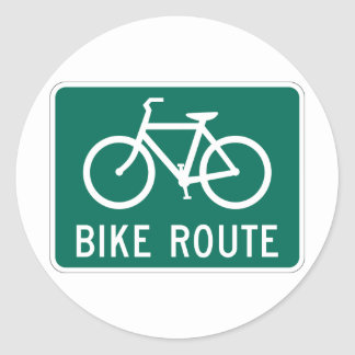 Etiqueta do sinal da rota da bicicleta adesivos